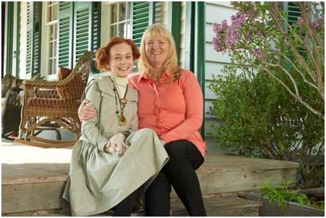 Actor Ella Ballentine (L) and executive producer (and L.M. Montgomery's granddaugher) Kate MacDonald Butler. Photo: Steve Wilkie