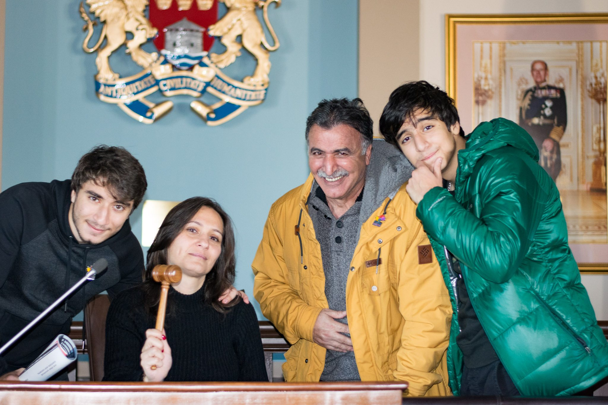 The Saeed family at Kingston City Hall (photo: Ray Aryle)