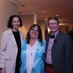 Illustrated Children's Literature Prize winners Julie Flett and Monique Gray Smith with Poetry Prize finalist Anne Fleming (Monica Miller)