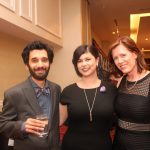 Poets Raoul Fernandes and Miranda Pearson flanking Adèle Barclay (Monica Miller)