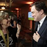 Green Party Leader Elizabeth May and This Hour Has 22 Minutes star Mark Critch