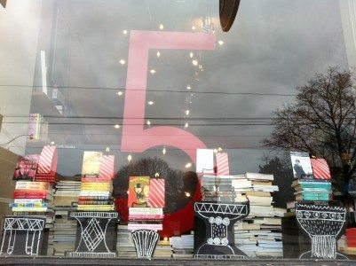 Type Books' Birthday window