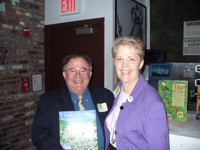 If America Were a Village author David J. Smith and his wife Joanne at the New York launch