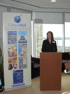 Lisa Lyons, president of Kids Can, at the Toronto launch of CitizenKid